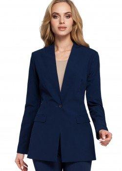 Класическо сако без яка в тъмносин цвят M304