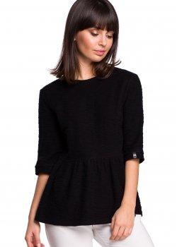 Пуловер в черен цвят B109