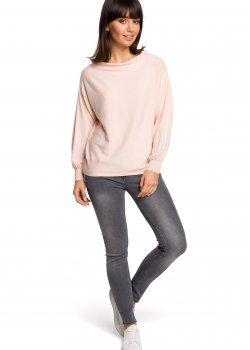 Пуловер в цвят праскова BK024