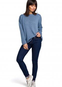Пуловер в син цвят BK019