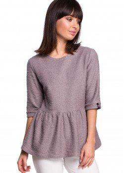 Пуловер в сив цвят B109