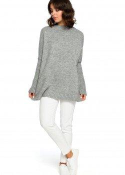 Пуловер в сив цвят BK009