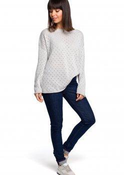 Пуловер в сив цвят BK019