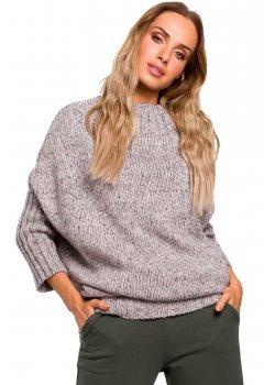 Пуловер в сив меланж M470
