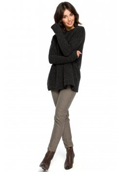 Пуловер в тъмносив цвят BK009