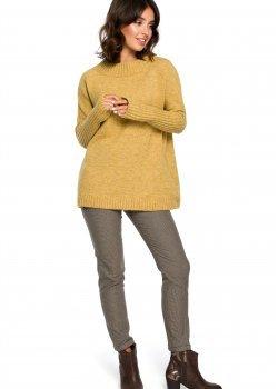 Пуловер в тъмножълт цвят BK009