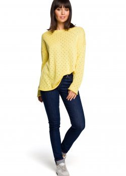 Пуловер в жълт цвят BK019