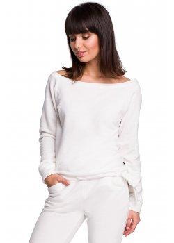 Спортна блуза в цвят екрю B108