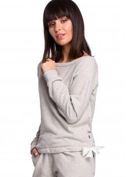 Спортна блуза в светлосив цвят B108