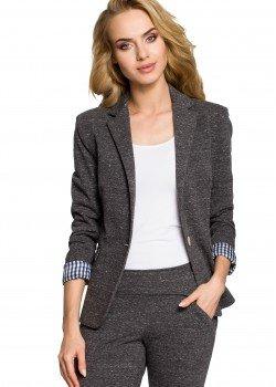 Спортно-елегантно сако в цвят графит M197
