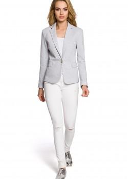 Спортно-елегантно сако в светлосив цвят M197