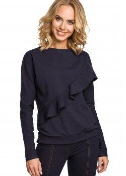 Стилна блуза в тъмносин цвят M331