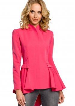 Стилно асиметрично сако в розов цвят M165