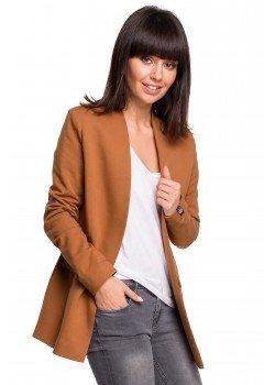 Стилно сако в цвят карамел с джобове B102