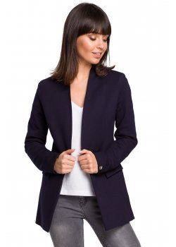 Стилно сако в тъмносин цвят с джобове B102