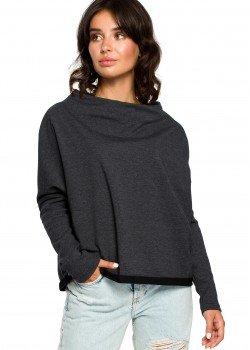 Свободна блуза в цвят графит B094