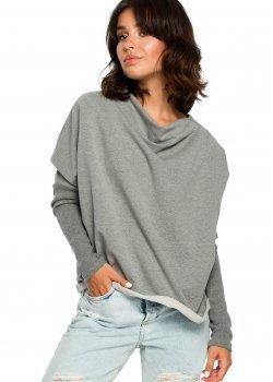 Свободна блуза в сив цвят B094