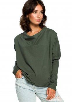 Свободна блуза в тъмнозелен цвят B094