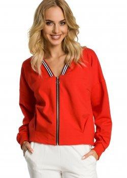Тънко яке с цип в червен цвят M347