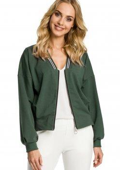 Тънко яке с цип в тъмнозелен цвят M347