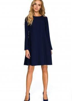 Трапецовидна рокля в тъмносин цвят S137