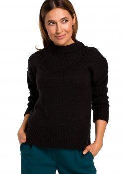 Изчистен пуловер в черен цвят S 185