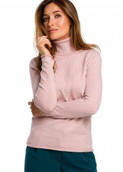 Изчистен пуловер в розов цвят S183