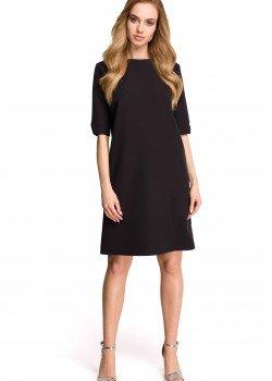 Изчистена рокля в черен цвят S113