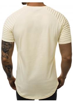 Дълга тениска в бежов цвят