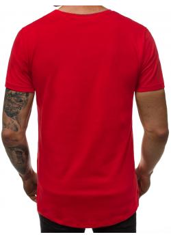 Изчистена тениска в червен цвят Breezy