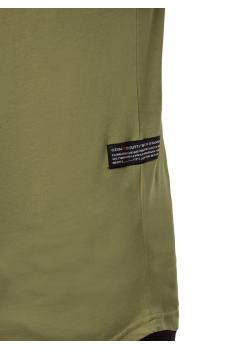 Тениска с кръгло деколте в зелен цвят