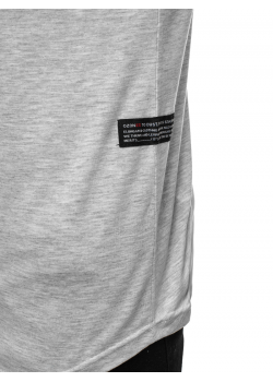 Тениска с кръгло деколте в сив цвят