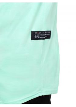 Тениска с кръгло деколте в цвят мента