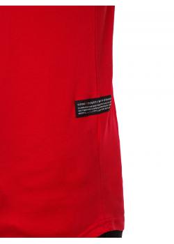 Тениска с кръгло деколте в червен цвят