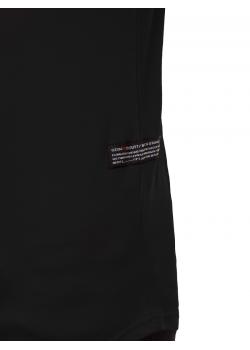 Тениска с кръгло деколте в черен цвят