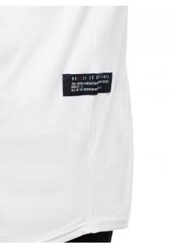 Тениска с кръгло деколте в бял цвят