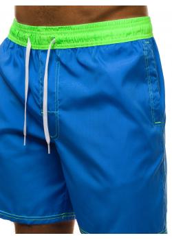 Плажни шорти в син цвят