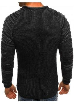 Изчистен пуловер в черен цвят