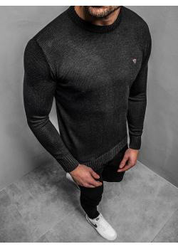 Пуловер в черен цвят с лого