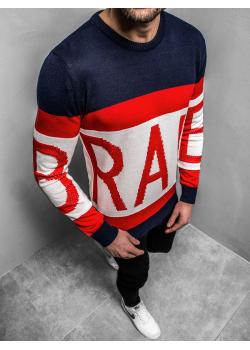 Пуловер в тъмносин цвят с надпис Breezy