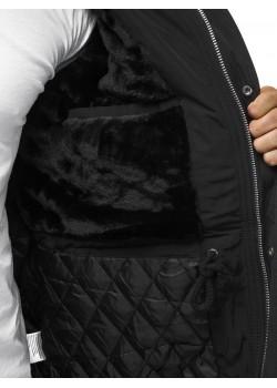 Яке в черен цвят с подвижна качулка