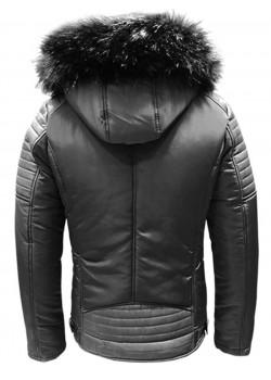 Зимно яке в черен цвят с практична качулка