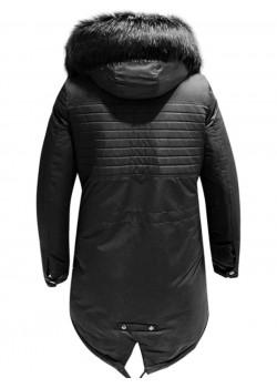 Зимно яке в черен цвят