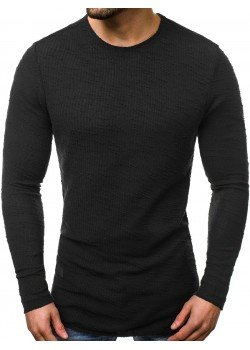 Блуза с изчистен дизайн в черен цвят