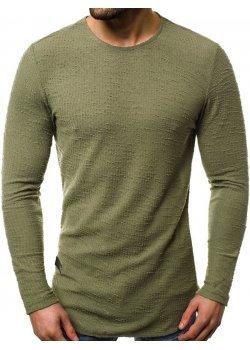 Блуза с изчистен дизайн в светлозелен цвят