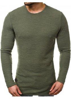 Блуза с изчистен дизайн в зелен цвят