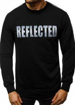 Блуза в черен цвят с напдис REFLECTED