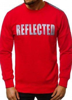 Блуза в червен цвят с напдис REFLECTED