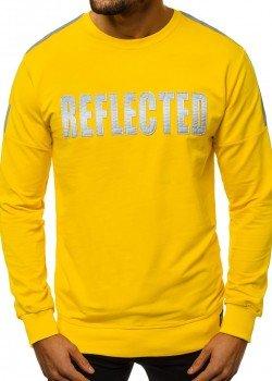Блуза в жълт цвят с напдис REFLECTED