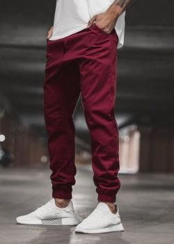 Чино панталон в цвят бордо